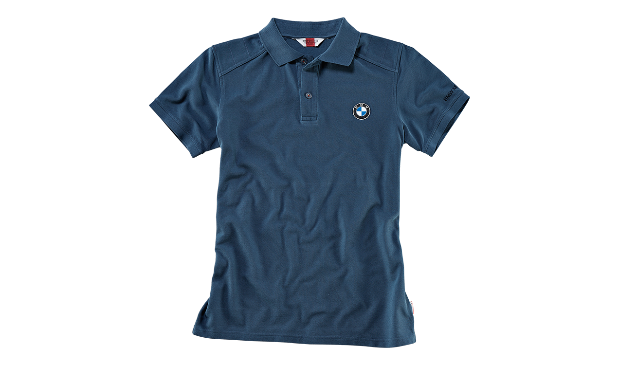 bmw motorrad original poloshirt t shirt logo herren blau. Black Bedroom Furniture Sets. Home Design Ideas
