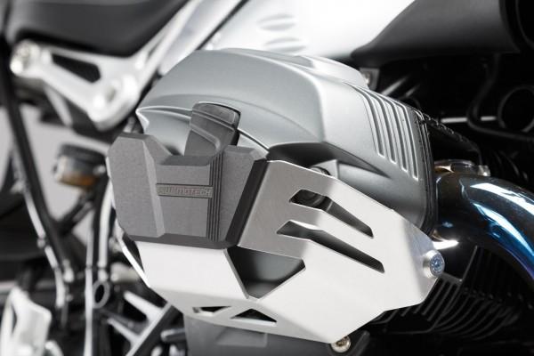 Zylinderschutz Ventildeckelschutz silber / schwarz BMW R nineT-5 1N12 (K21) (19-20)