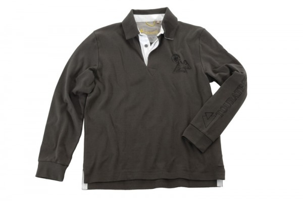 "Rugby Shirt Pullover Longshirt ""Adventure Dark Sand"" Herren"