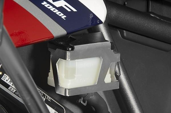 Honda CRF1000L Africa Twin Schutz Bremsflüssigkeitsbehälter hinten Edelstahl 2015-2017