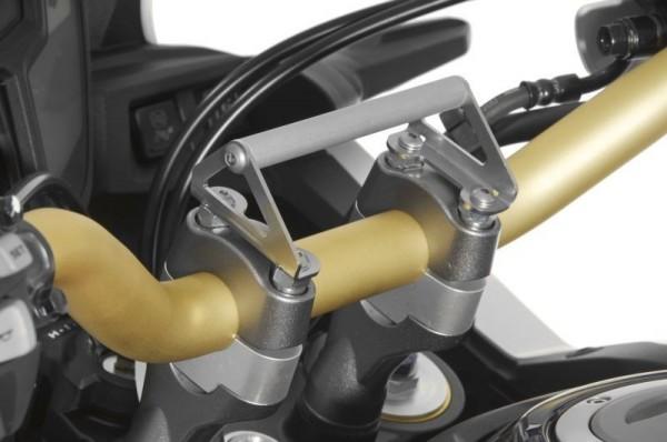 Honda CRF1000L Africa Twin GPS-Anbauadapter Navihalter auf Lenkerklemmung mit Schrauben für Lenkerer