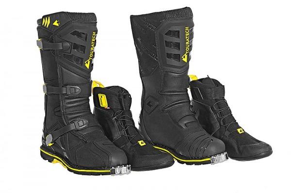 TOURATECH Motorrad Stiefel Schuhe DESTINO Adventure Black schwarz NEU