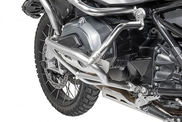 Verstärkungsstrebe Edelstahl für Original BMW Motorschutzbügel + Touratech Sturzbügelerweiterung, BM