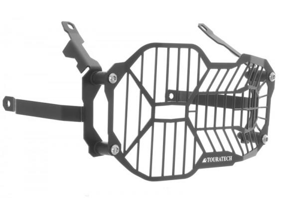 BMW R1200GS LC Scheinwerferschutz Edelstahl schwarz mit Schnellverschluss für LED Hauptscheinwerfer
