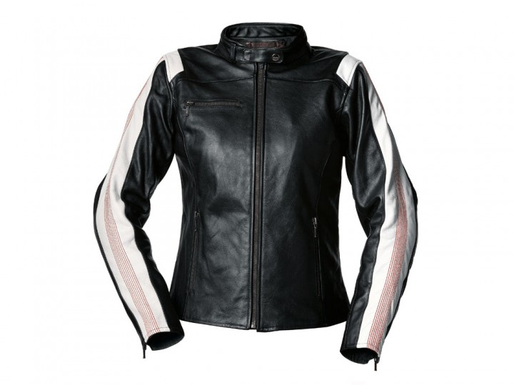 bmw motorrad jacke motorradjacke lederjacke club leder damen schwarz wei gr s 38 jumiparts. Black Bedroom Furniture Sets. Home Design Ideas