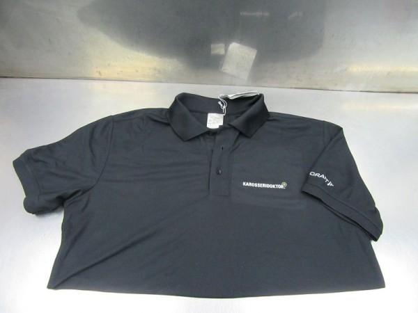 Craft Classic Pique Poloshirt T-Shirt Größe XL schwarz Neu