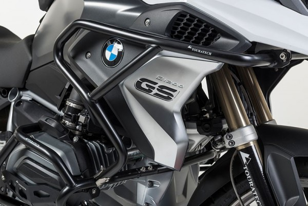 Touratech Sturzbügelerweiterung Edelstahl schwarz für BMW R1200GS (LC) ab 2017