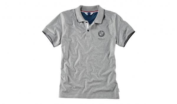 Original Poloshirt T-Shirt BMW Motorrad Herren grau