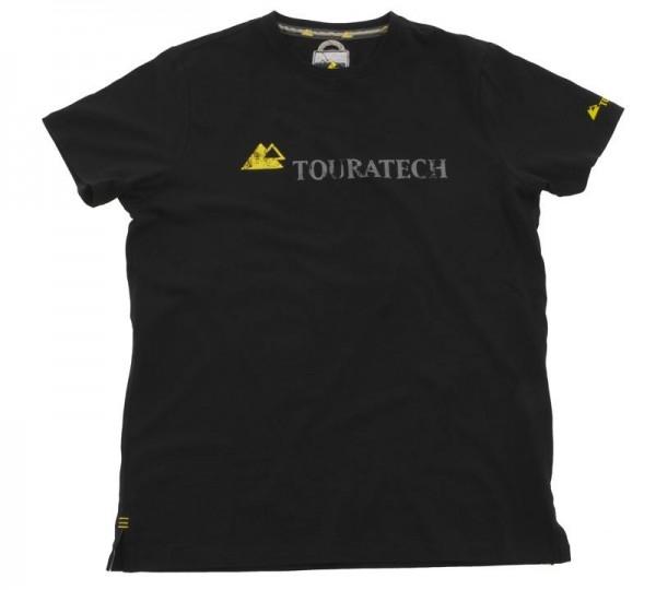 TOURATECH T-Shirt Shirt mit Rundhalsausschnitt Herren schwarz NEU