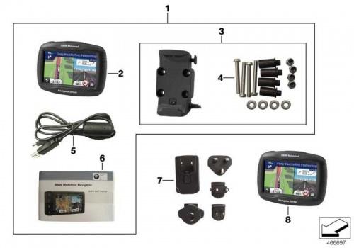bmw motorrad satz navigator street navi ebay. Black Bedroom Furniture Sets. Home Design Ideas
