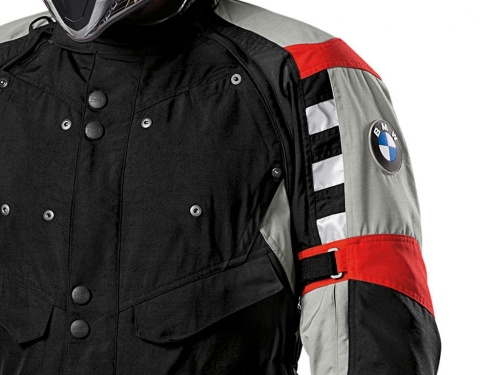 bmw motorrad jacke motorradjacke rallye herren schwarz rot neu ebay. Black Bedroom Furniture Sets. Home Design Ideas